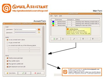 Screenshot of GmailAssistant in Ubuntu
